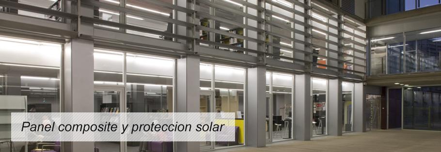 Panel composite y proteccion solar